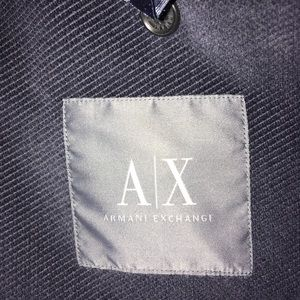 Armani Exchange A/X blazer jacket blue velvet 44 L